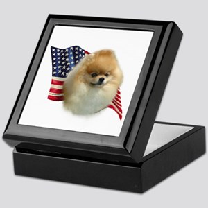 Pomeranian Flag Keepsake Box