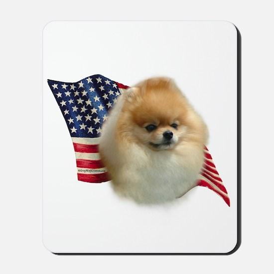 Pomeranian Flag Mousepad