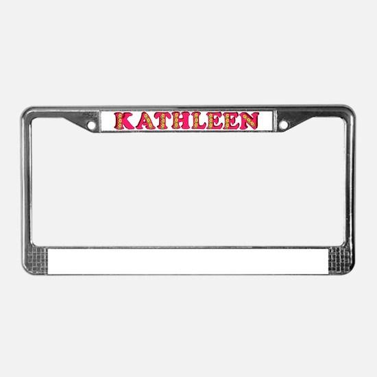 kathleen-g-woodcut License Plate Frame