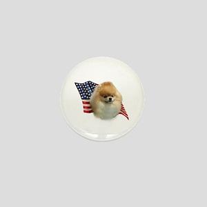 Pomeranian Flag Mini Button