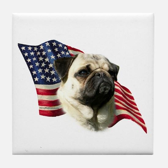 Pug Flag Tile Coaster