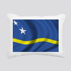 curacao_flag Rectangular Canvas Pillow