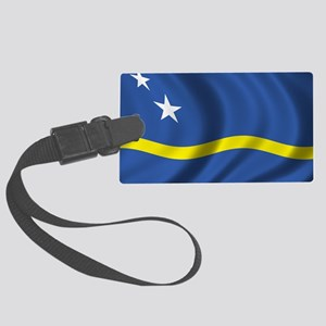 curacao_flag Large Luggage Tag