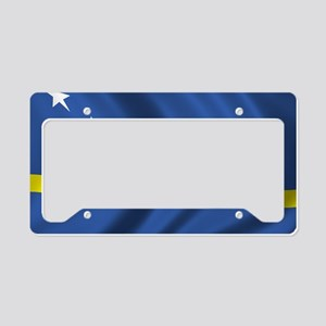 curacao_flag License Plate Holder