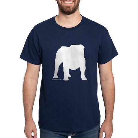 White Bulldog S Dark T-Shirt