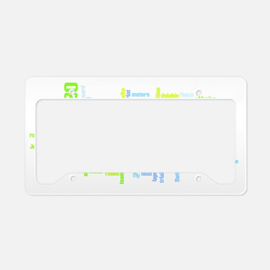 Swimming License Plate Holder
