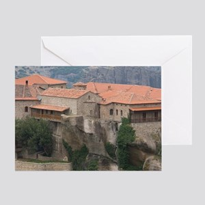 Greece, Meteora. Overview of Varlaam Greeting Card