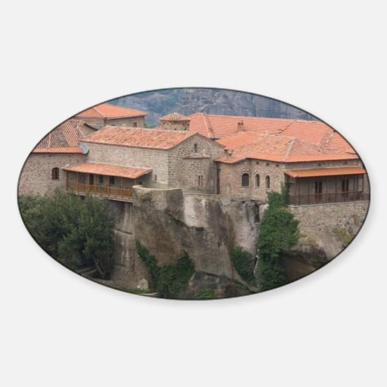Greece, Meteora. Overview of Varlaa Sticker (Oval)