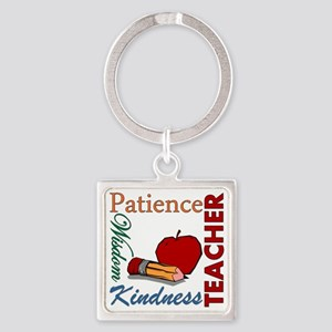 Teacher Square Keychain