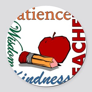 Teacher Round Car Magnet