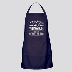 VINTAGE DUDE AGED 40 YEARS Apron (dark)