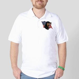Rottweiler Flag Golf Shirt