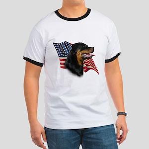 Rottweiler Flag Ringer T