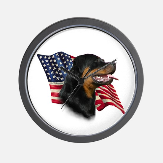 Rottweiler Flag Wall Clock