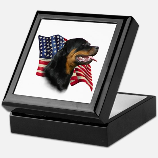 Rottweiler Flag Keepsake Box