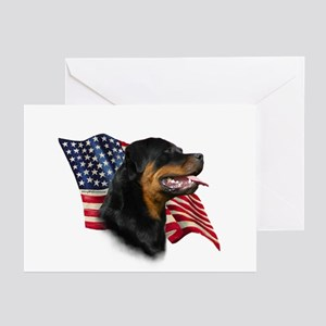 Rottweiler Flag Greeting Cards (Pk of 10)