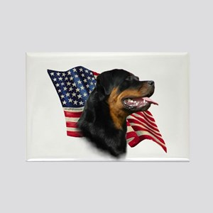 Rottweiler Flag Rectangle Magnet
