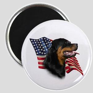 Rottweiler Flag Magnet