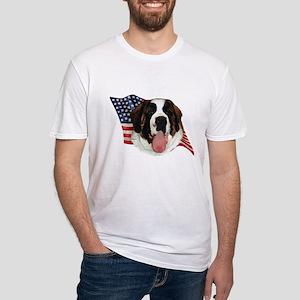 Saint Bernard Flag Fitted T-Shirt