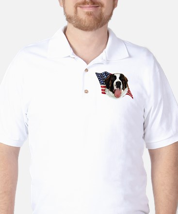 Saint Bernard Flag Golf Shirt