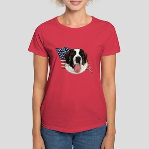 Saint Bernard Flag Women's Dark T-Shirt
