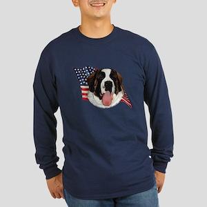 Saint Bernard Flag Long Sleeve Dark T-Shirt
