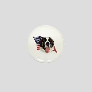 Saint Bernard Flag Mini Button