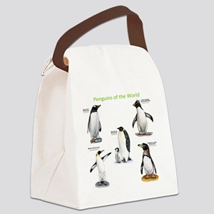 Penguins of the World Canvas Lunch Bag