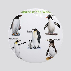 Penguins of the World Round Ornament