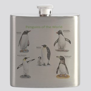 Penguins of the World Flask