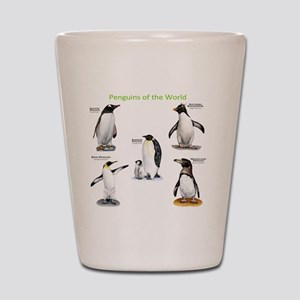 Penguins of the World Shot Glass
