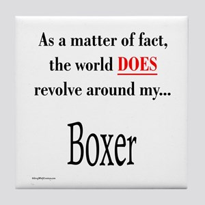 Boxer World Tile Coaster