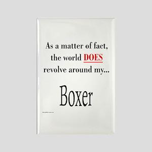 Boxer World Rectangle Magnet