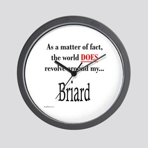 Briard World Wall Clock