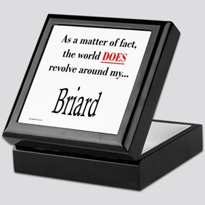 Briard World Keepsake Box