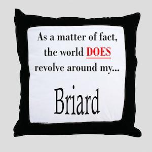 Briard World Throw Pillow