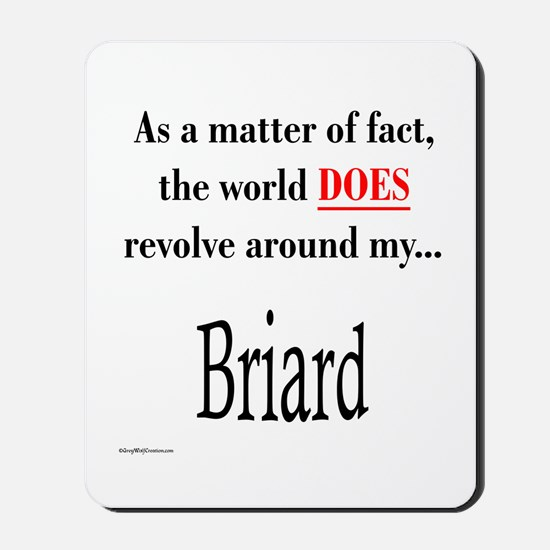 Briard World Mousepad
