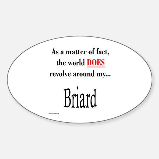 Briard World Oval Decal