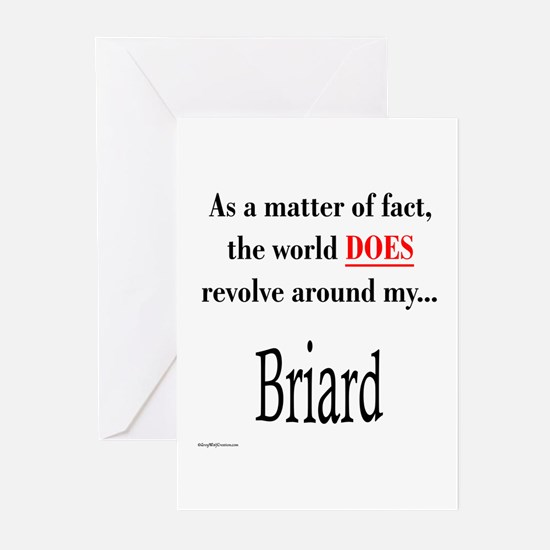 Briard World Greeting Cards (Pk of 10)