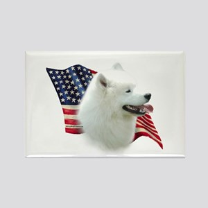 Samoyed Flag Rectangle Magnet