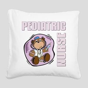 Pediatric Nurse Square Canvas Pillow