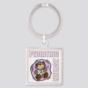 Pediatric Nurse Square Keychain