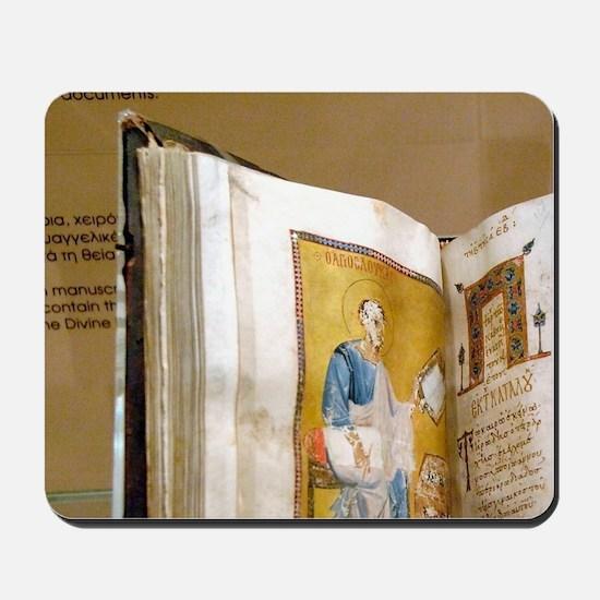 Byzantine Art. Greece. Lectionary illumi Mousepad