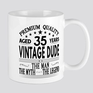 VINTAGE DUDE AGED 35 YEARS Mugs