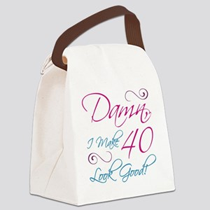 40th Birthday Humor Canvas Lunch Bag