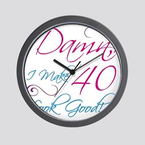 40th Birthday Humor Wall Clock