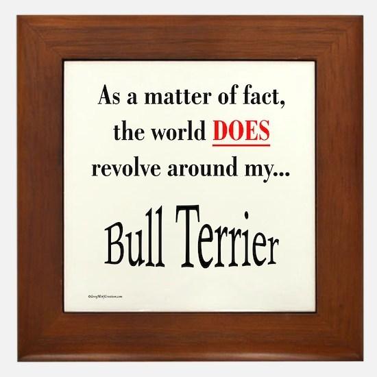 Bull Terrier World Framed Tile
