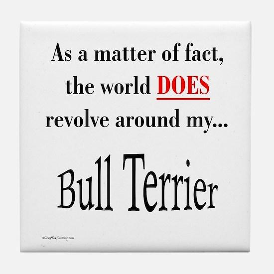 Bull Terrier World Tile Coaster