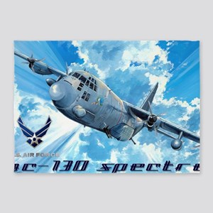 Air Force AC-130 Spectre 5'x7'Area Rug