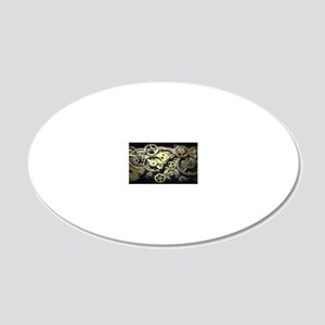 GearsLicensePlate 20x12 Oval Wall Decal